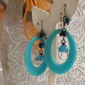 Lucite and Crystal earrings...2 for 1 $$ New